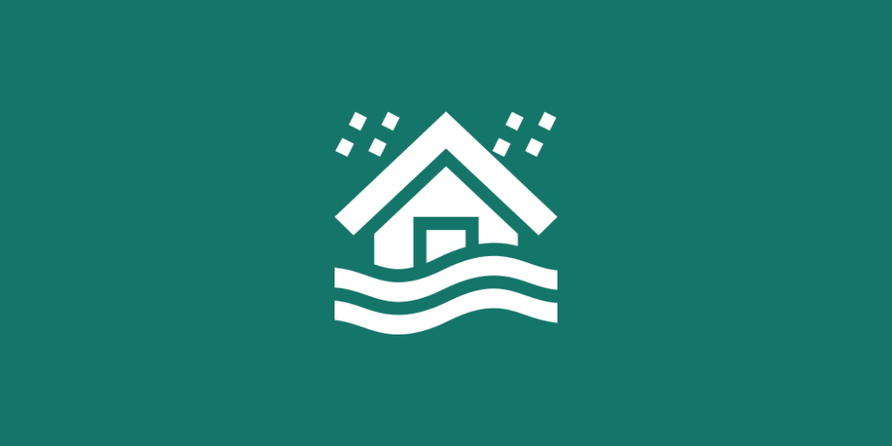 Home insurance typically doesn't cover flooding.
